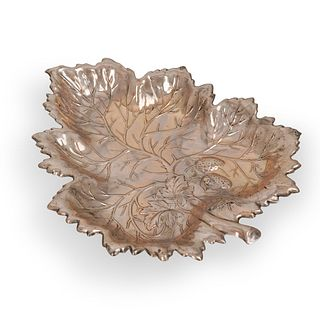 Wallace Sterling Silver Leaf Shaped Dish