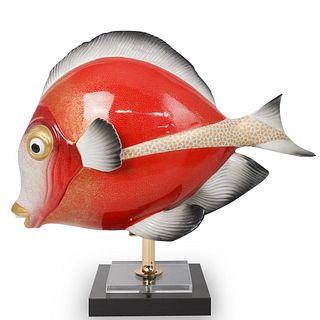 "Oggetti ""Mangani"" Fish Porcelain Sculpture"