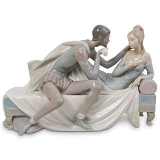 "Lladro ""Othello And Desdemona"" Porcelain Sculpture"