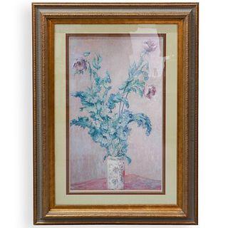 Claude Monet Purple Poppies Print
