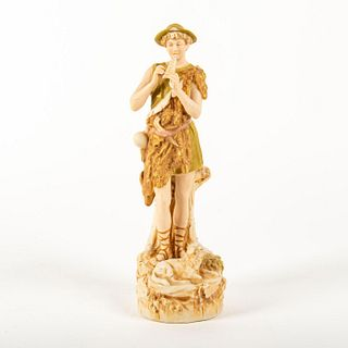 Royal Dux Bohemia Large Figural Group, Shepherd Boy Piper