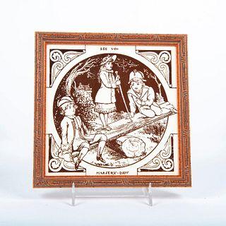 Minton Moya Smith Ceramic Tile, Seesaw, Framed