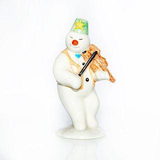 Royal Doulton Snowman Figurine, Violinist Ds11