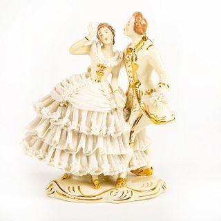 Dresden Art Porcelain Figurine, Dancing Couple