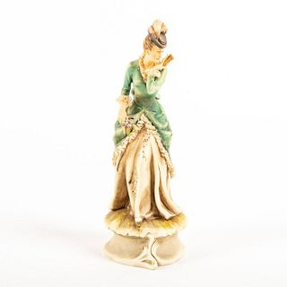 A. Borsato Bisque Porcelain Figurine, Lady With Pink Rose