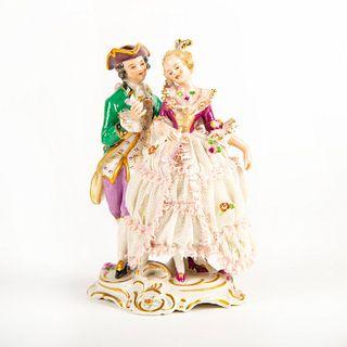 Frankenthal Dresden Porcelain Figure Group, Courting Couple