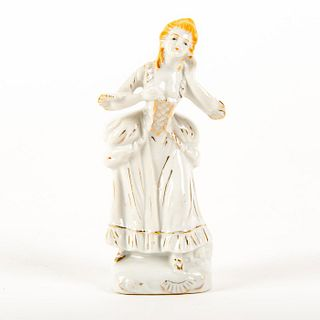 Porcelain Miniature Figurine, Colonial Lady