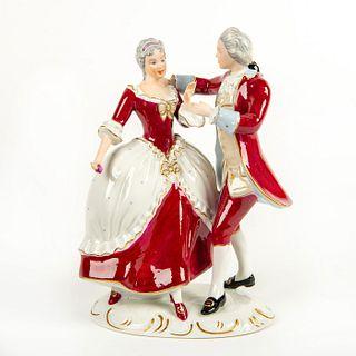 Royal Dux Bohemia Figurine, Couple Dancing
