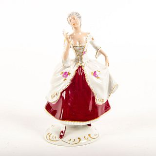 Royal Dux Bohemia Figurine, Lady With Fan