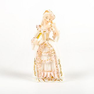 Vintage Bone China Figurine, Lady With Fan
