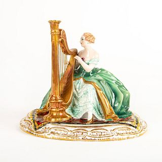 Vintage G Cacciapuoti Lady Figurine, Harpist