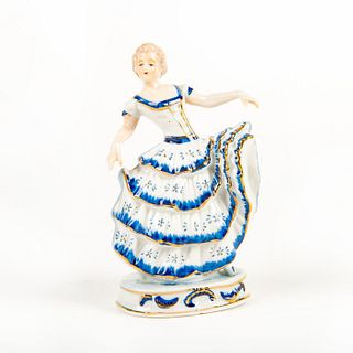 Vintage German Porcelain Figurine, Lady Dancer