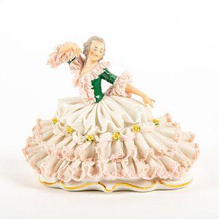 Vintage Muller Volkstedt Figurine, Lady Dancer