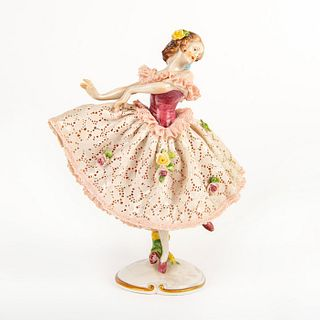 Volkstedt Porcelain Lady Figurine, Ballerina