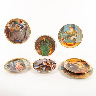 7 Norman Rockwell Collectible Ceramic Plates
