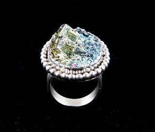 Navajo Tsosie Bismuth & Sterling Silver Ring