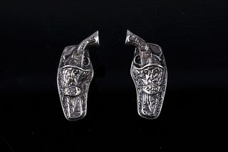 Sterling Silver Holstered Pistol Cuff Links