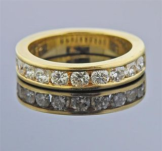 14k Gold Diamond Band Ring