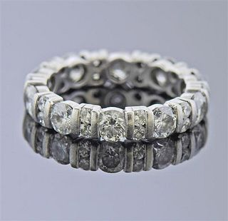 Platinum 2.50ctw Diamond Eternity Wedding Ring