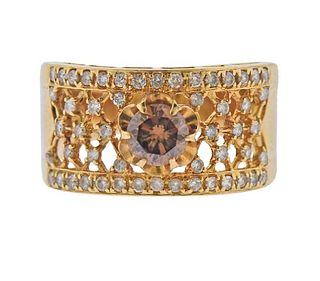 18K Gold White Fancy Diamond Band Ring