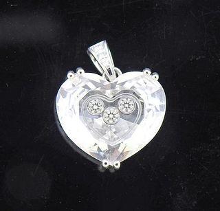 Chopard Happy Diamonds Crystal Heart 18K Gold Pendant