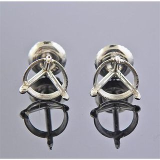 14K Gold Stud Earrings Mounting