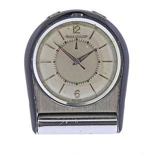Jaeger LeCoultre Stainless Steel Alarm Travel Clock