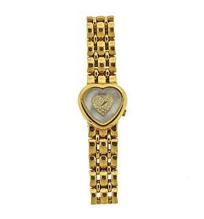 Piaget 18k Gold MOP Diamond Heart Watch 481188