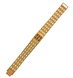 Piaget 1970s 18k Gold Watch Bracelet