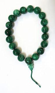 Green Jade Wrist Mala
