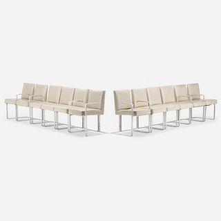 Vladimir Kagan, dining chairs, set of twelve
