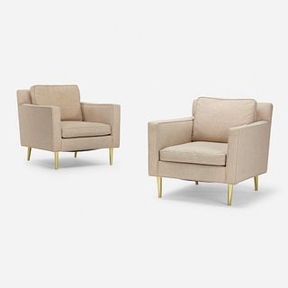 Edward Wormley, lounge chairs model 4872A, pair