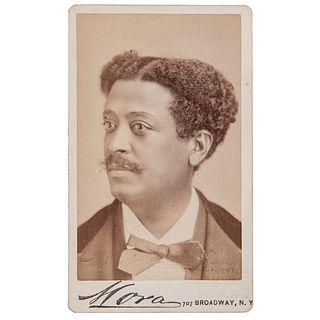 Joseph White Afro-Cuban Composer & Violinist, CDV by Mora, New York, circa 1875-1877