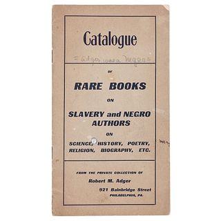 Bibliography of an Early Black Bibliophile, circa 1906