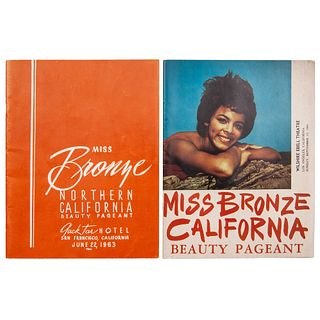 Miss Bronze California Beauty Pageant Programs, 1963 & 1964