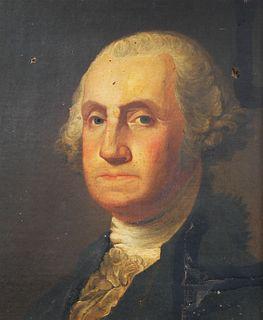 GEORGE WASHINGTON—Portrait aft Gilbert Stewart—O/C
