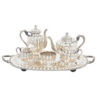 Tea Set, Mexico, 20th century, Sterling Silver, Varying brands and models, 5774 g, Pieces: 6