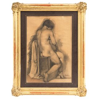 """ARMANDO GARCÍA NÚÑEZ (MÉXICO, 1883-1965), ESTUDIO (DESNUDO FEMENINO), Pencil on paper, 16.3 x 11"""" (41.5 x 28 cm)"""