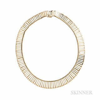 Cartier Inc. 18kt Gold Necklace, Switzerland, rectangular links, 32.2 dwt, lg. 15 in., signed.