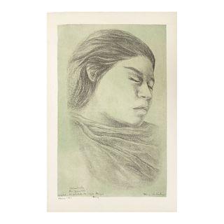 FANNY RABEL. Sin título. Firmado y fechado 1991.  Litografía 100/80. Sin enmarcar. 66 x 42 cm