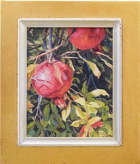 GAIL PIDDUCK, Untitled (Pomegranates), Oil on panel