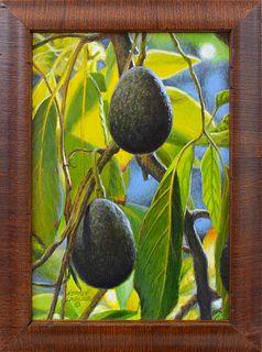 "GEORGE LOCKWOOD, ""California Fresh,"" Acrylic on panel"