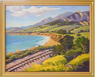"KEVIN GLEASON, ""North of Tajiguas - Gaviota Coast,"" Oil on canvas"