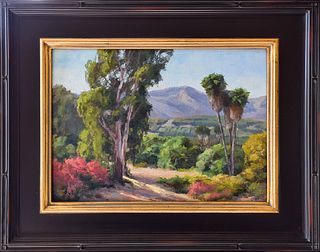 "LAURA WAMBSGANS, ""Ventura View,"" Oil on panel"