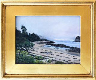 "PAM STRAUTMAN, ""Acadian Park,"" Pastel on paper"