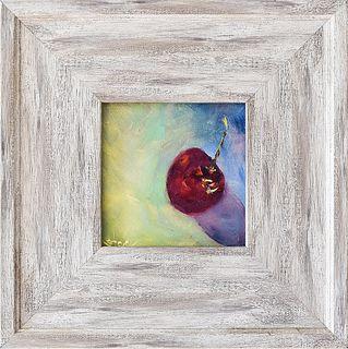 "SHANNON CELIA, ""Cherry,"" Oil on panel"
