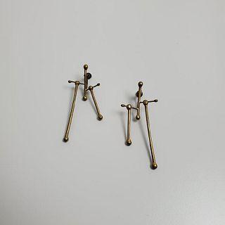 Art Smith Brass Earrings