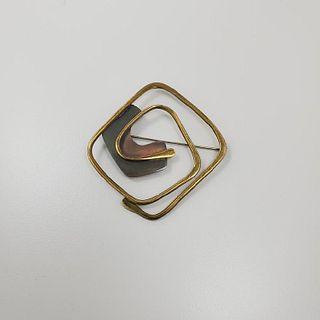 Art Smith Brass Brooch