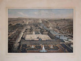 Charles Fichot - Paris Moderne, Les Tuileries, Le Louvre et La Rue de Rivoli…