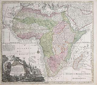 Matthaeus Seutter - Africa Juxta Navigationes et Observationes Recentissimas...